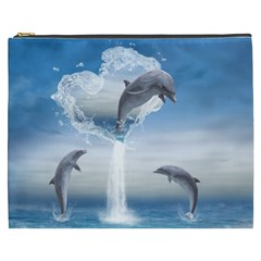 The Heart Of The Dolphins Cosmetic Bag (XXXL)