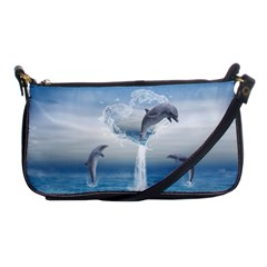 The Heart Of The Dolphins Evening Bag