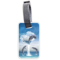 The Heart Of The Dolphins Luggage Tag (one Side)