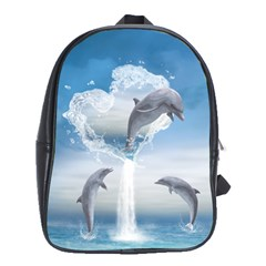 The Heart Of The Dolphins School Bag (Large)