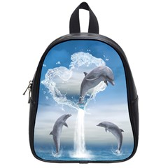 The Heart Of The Dolphins School Bag (Small)