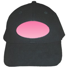 French Rose To Piggy Pink Gradient Black Baseball Cap