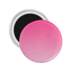 French Rose To Piggy Pink Gradient 2.25  Button Magnet