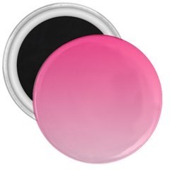 French Rose To Piggy Pink Gradient 3  Button Magnet
