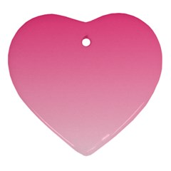 French Rose To Piggy Pink Gradient Heart Ornament
