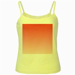 French Rose To Piggy Pink Gradient Yellow Spaghetti Tank