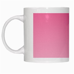 French Rose To Piggy Pink Gradient White Coffee Mug