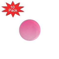 French Rose To Piggy Pink Gradient 1  Mini Button Magnet (10 Pack)