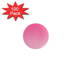 French Rose To Piggy Pink Gradient 1  Mini Button Magnet (100 pack)