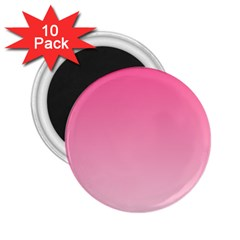 French Rose To Piggy Pink Gradient 2 25  Button Magnet (10 Pack)
