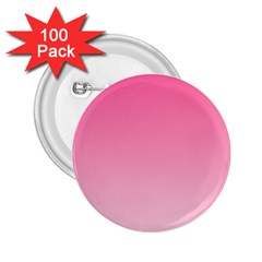 French Rose To Piggy Pink Gradient 2.25  Button (100 pack)