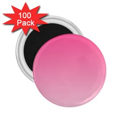 French Rose To Piggy Pink Gradient 2.25  Button Magnet (100 pack)