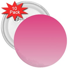 French Rose To Piggy Pink Gradient 3  Button (10 pack)