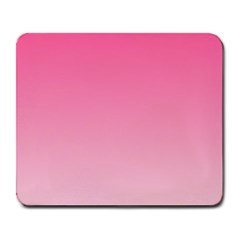 French Rose To Piggy Pink Gradient Large Mouse Pad (rectangle)