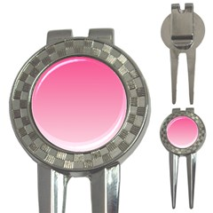 French Rose To Piggy Pink Gradient Golf Pitchfork & Ball Marker