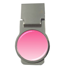 French Rose To Piggy Pink Gradient Money Clip (Round)