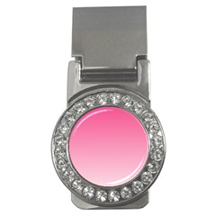 French Rose To Piggy Pink Gradient Money Clip (CZ)
