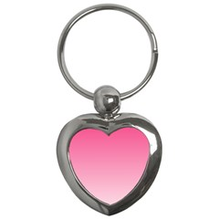 French Rose To Piggy Pink Gradient Key Chain (Heart)