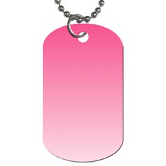 French Rose To Piggy Pink Gradient Dog Tag (one Sided)