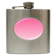 French Rose To Piggy Pink Gradient Hip Flask