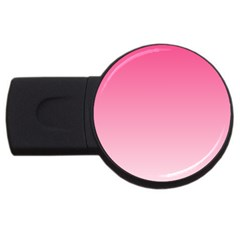 French Rose To Piggy Pink Gradient 2GB USB Flash Drive (Round)