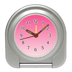 French Rose To Piggy Pink Gradient Desk Alarm Clock
