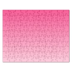 French Rose To Piggy Pink Gradient Jigsaw Puzzle (Rectangle)