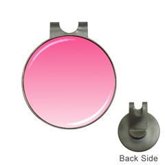 French Rose To Piggy Pink Gradient Hat Clip with Golf Ball Marker