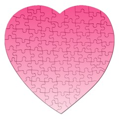 French Rose To Piggy Pink Gradient Jigsaw Puzzle (Heart)