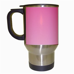 French Rose To Piggy Pink Gradient Travel Mug (white)
