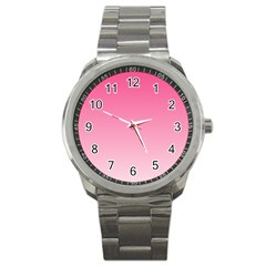 French Rose To Piggy Pink Gradient Sport Metal Watch