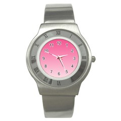 French Rose To Piggy Pink Gradient Stainless Steel Watch (unisex)