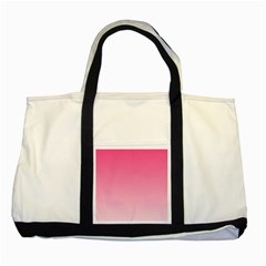 French Rose To Piggy Pink Gradient Two Toned Tote Bag