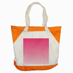 French Rose To Piggy Pink Gradient Accent Tote Bag