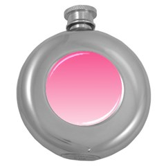 French Rose To Piggy Pink Gradient Hip Flask (Round)