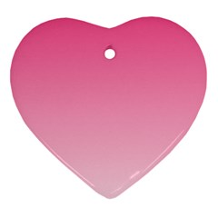 French Rose To Piggy Pink Gradient Heart Ornament (Two Sides)