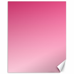 French Rose To Piggy Pink Gradient Canvas 16  x 20  (Unframed)