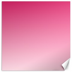 French Rose To Piggy Pink Gradient Canvas 20  X 20  (unframed)