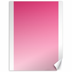 French Rose To Piggy Pink Gradient Canvas 18  x 24  (Unframed)