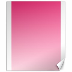 French Rose To Piggy Pink Gradient Canvas 20  x 24  (Unframed)