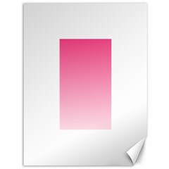 French Rose To Piggy Pink Gradient Canvas 36  X 48  (unframed)