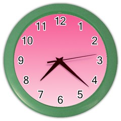 French Rose To Piggy Pink Gradient Wall Clock (color)