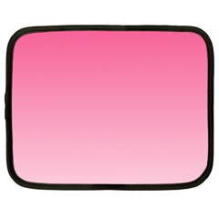 French Rose To Piggy Pink Gradient Netbook Case (Large)