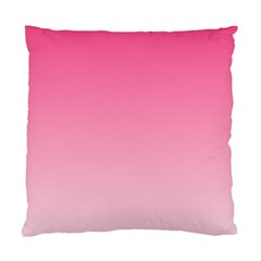 French Rose To Piggy Pink Gradient Cushion Case (one Side)