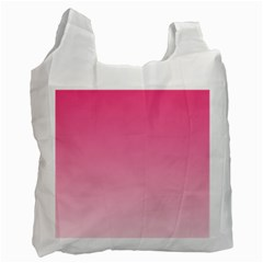 French Rose To Piggy Pink Gradient Recycle Bag (Two Sides)