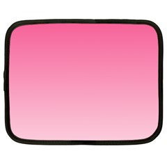 French Rose To Piggy Pink Gradient Netbook Case (XXL)