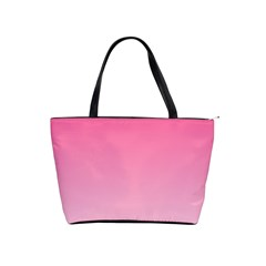 French Rose To Piggy Pink Gradient Large Shoulder Bag