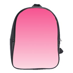 French Rose To Piggy Pink Gradient School Bag (Large)