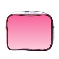 French Rose To Piggy Pink Gradient Mini Travel Toiletry Bag (One Side)