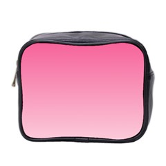 French Rose To Piggy Pink Gradient Mini Travel Toiletry Bag (Two Sides)